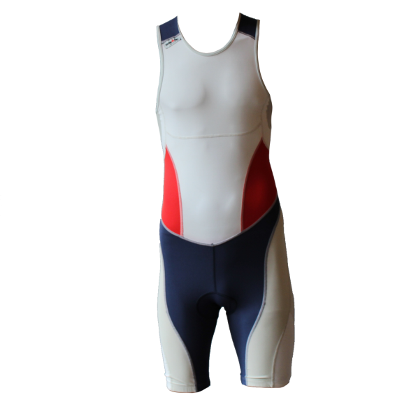 Ironman trisuit back zip sleeveless extreme suit white/blue/red men  IM7500-03/05/41