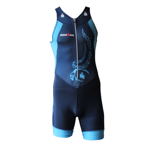 Ironman trisuit front zip sleeveless multisport tattoo blue men  IM8902-41/50