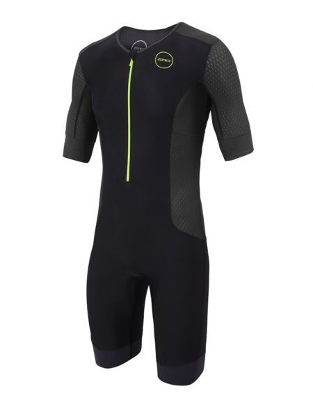 Zone3 Aquaflo plus short sleeve trisuit black men  TS18MAQPS104
