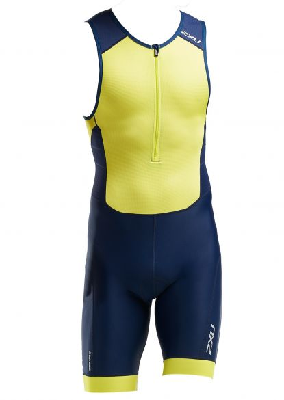 2XU Perform sleeveless trisuit blue/yellow men  MT5526d-NVY/LMA