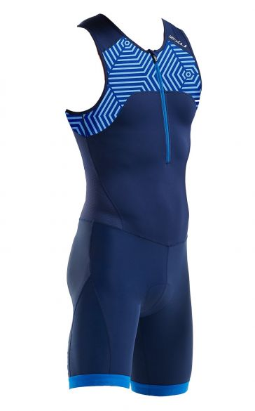 2XU Active sleeveless trisuit blue men MT5540d  MT5540d-NVY/LBP