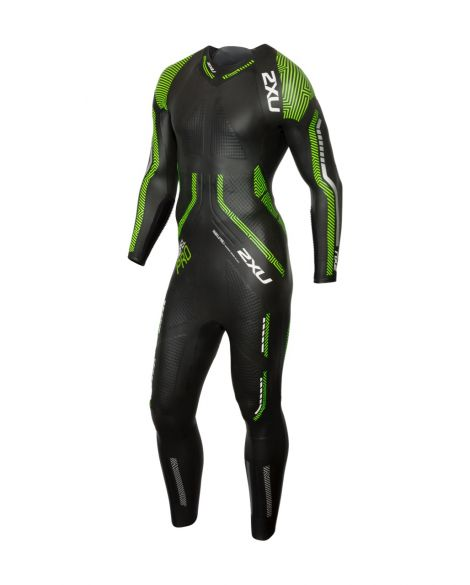 2XU Propel pro full sleeve wetsuit black/green men  MW5124c-BLK/NGG