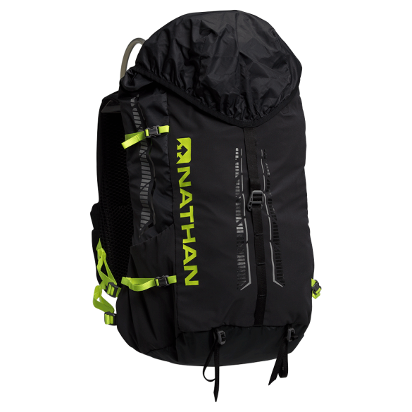 Nathan Journey fastpack 25L outdoor backpack black/safety yellow  00975841