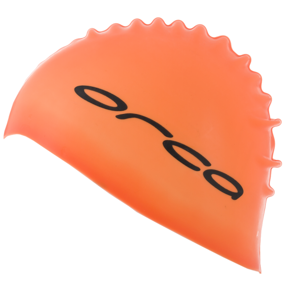 Orca Silicone swim cap orange  DVA054