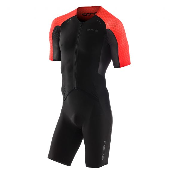 Orca core aero race trisuit short sleeves black/red men  KR1164