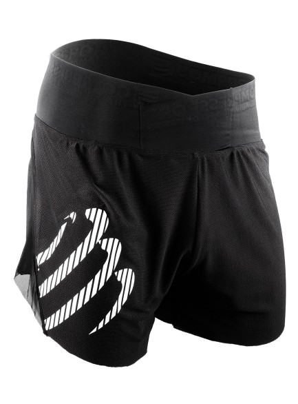 Compressport Racing overshort run tight black man  SHTRO-99