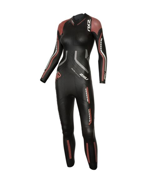 2XU Propel pro full sleeve wetsuit black/red women  WW5125c-BLK/NMN