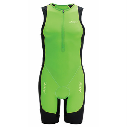 Zoot performance tri racesuit men's green flash/black 2014  ZOOTPERFRACEGRZW