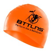 Silicone swimcap orange